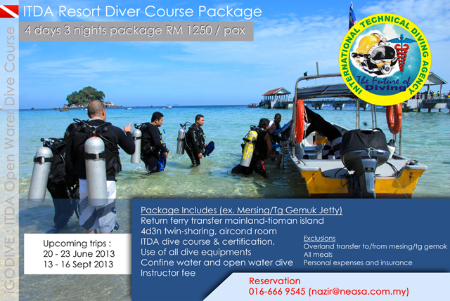 ITDA Scuba Dive Course (Open Water Dive Course)